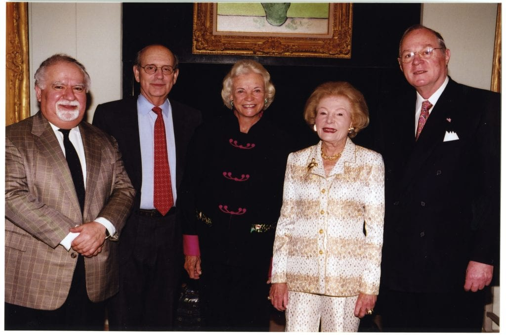 Vartan Gregorian and Leonore Annenberg with U.S. Supreme Court Justices Stephen Breyer, Sandra Day O'Connor, and Anthony Kennedy/